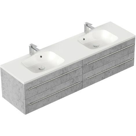 Mueble de baño Colossos 180 Gris hormigón