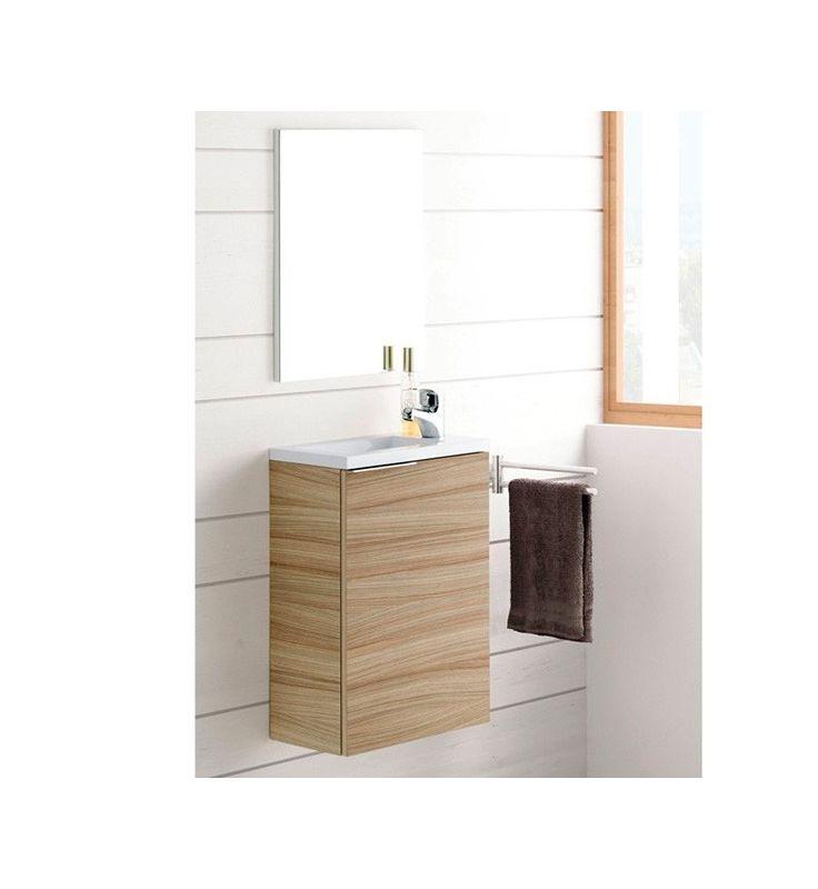 Lavabo Compac.Mueble De Bano Compac Nature Con Lavabo Y Espejo 58 X 40 X 22 Cm