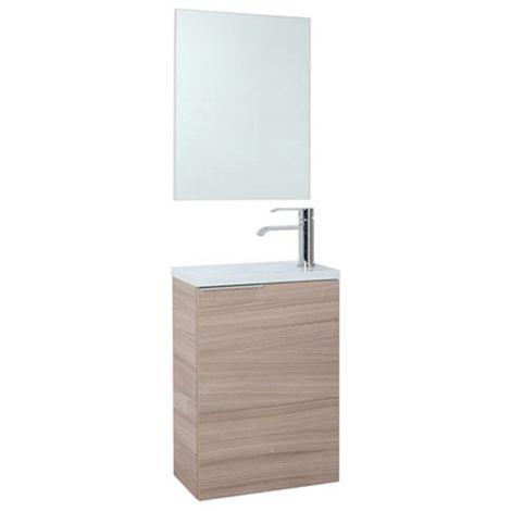 Lavabo Compac.Mueble De Bano Compac Nature Con Lavabo Y Espejo 58 X 40 X