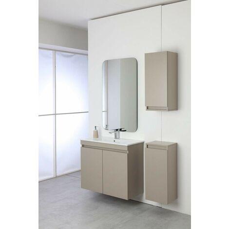 Mueble de baño completo 80 cm en color gris tórtola Feridras Pastello 803006 | Tortora