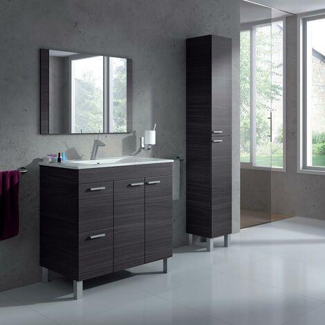 Mueble de Baño Completo: Mueble + Espejo + Columna + Grifo