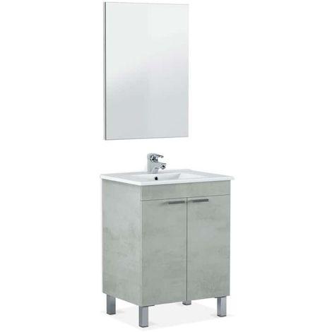 Mueble de baño con espejo LC1 60 2 puertas