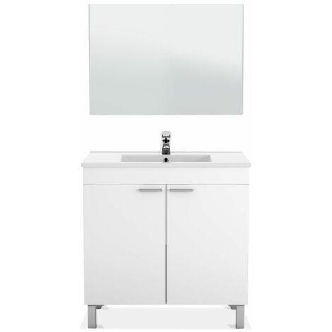 Mueble de baño con espejo LC1 80 2 puertas