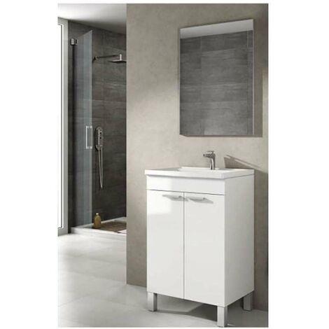 Mueble 50cm ancho lavabo y espejo Koncept