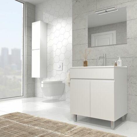 Mueble de baño con lavabo ceramico - 60/80 cms - Modelo Luup