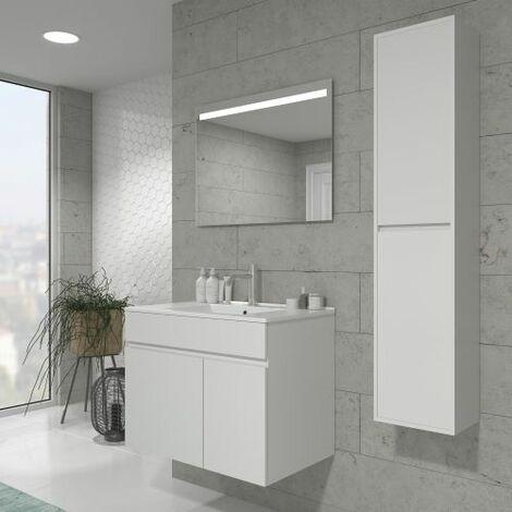 Mueble de baño con Lavabo de Cerámica 1 cajón - Mueble Montado - Ancho 60/80 cms - Modelo Soki