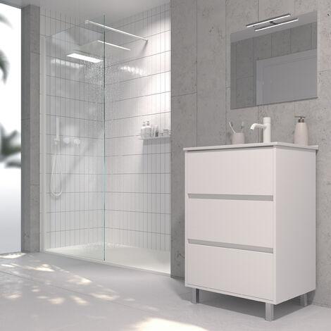 Mueble de baño con Lavabo de Porcelana - con 3 Cajones - El Mueble va MONTADO - Modelo Alcoa
