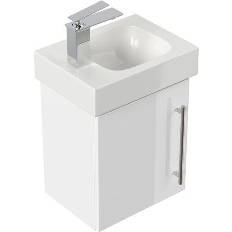 Mueble de baño con Lavabo Geberit Icon 38 cm izquierda blanco brillante