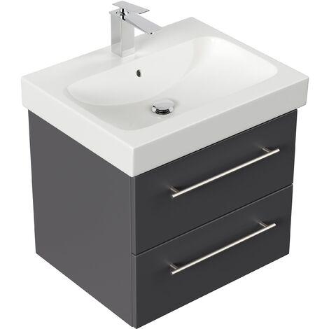 Mueble de baño con Lavabo Geberit Icon 60 cm Antracita satinado