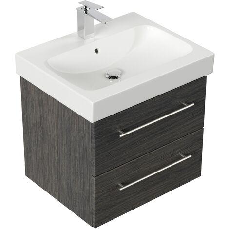 Mueble de baño con Lavabo Geberit Icon 60 cm Antracita vetado
