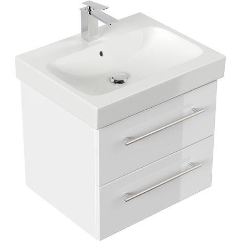 Mueble de baño con Lavabo Geberit Icon 60 cm blanco brillante