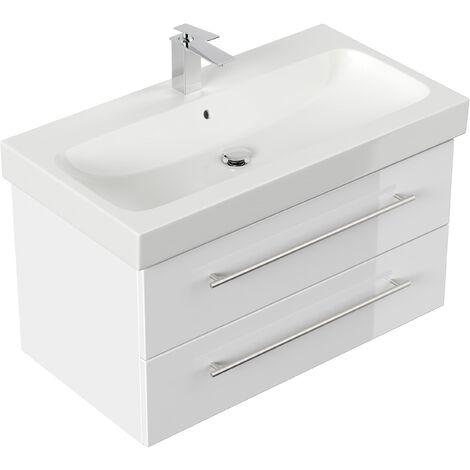 Mueble de baño con Lavabo Geberit Icon 90 cm blanco brillante