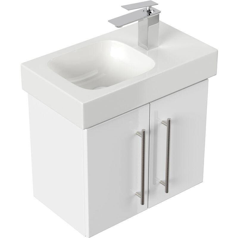 Mueble de baño con Lavabo Geberit Icon XS 53 cm derecho blanco brillante