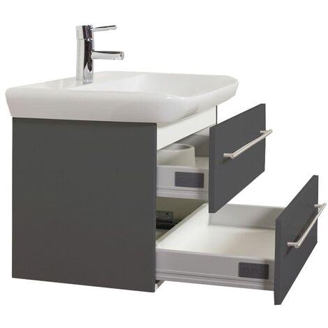 Mueble de baño con Lavabo Geberit MyDay 80 cm Antracita satinado