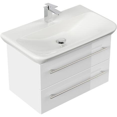 Mueble de baño con Lavabo Geberit MyDay 80 cm blanco brillante
