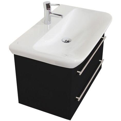 Mueble de baño con Lavabo Geberit MyDay 80 cm negro satinado