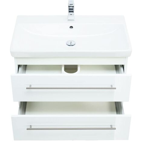 Mueble de baño con Lavabo Villeroy & Boch Avento 80 cm Blanco brillante