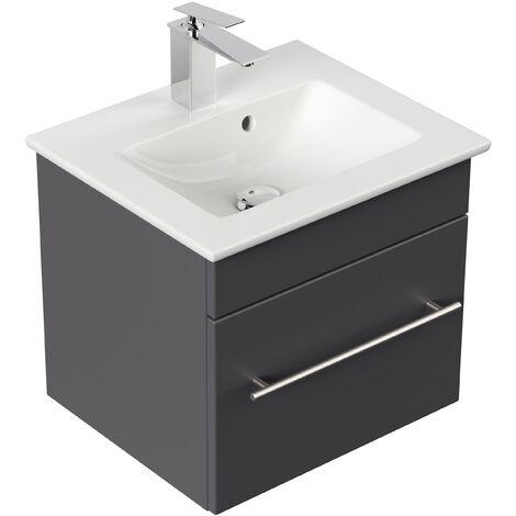 Mueble de baño con Lavabo Villeroy & Boch Venticello 50 cm antracita satinado