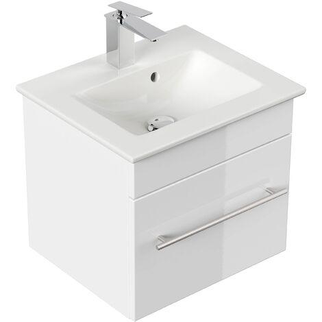 Mueble de baño con Lavabo Villeroy & Boch Venticello 50 cm blanco brillante