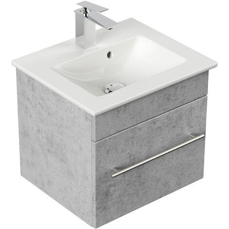 Mueble de baño con Lavabo Villeroy & Boch Venticello 50 cm Gris hormigón