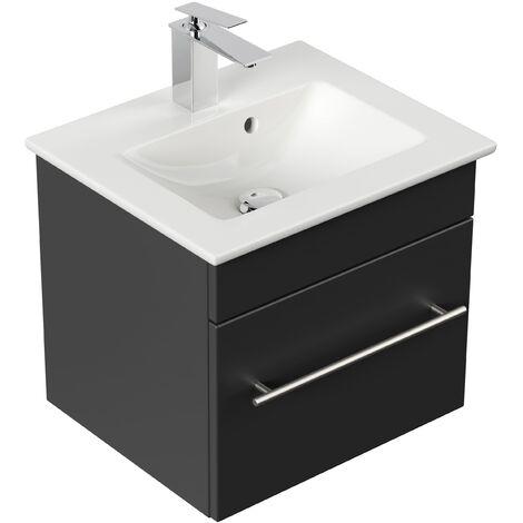 Mueble de baño con Lavabo Villeroy & Boch Venticello 50 cm negro satinado