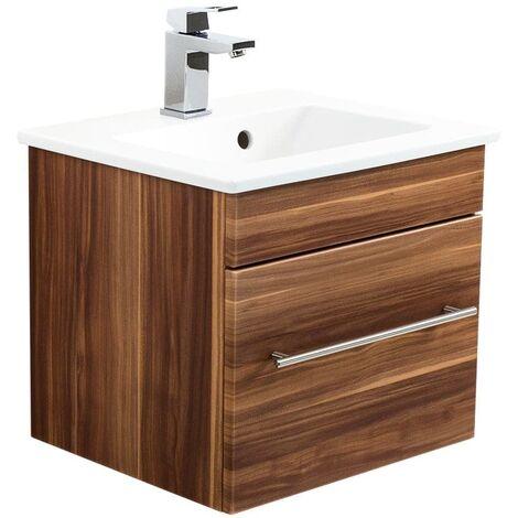 Mueble de baño con Lavabo Villeroy & Boch Venticello 50 cm Nuéz