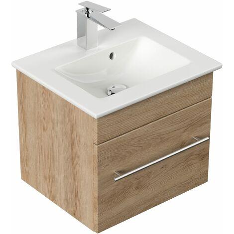 Mueble de baño con Lavabo Villeroy & Boch Venticello 50 cm roble claro