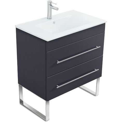 Mueble de baño con patas Casa Infinity 750 Antracita satinado