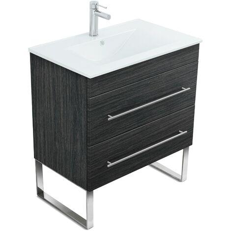 Mueble de baño con patas Casa Infinity 750 Antracita vetado
