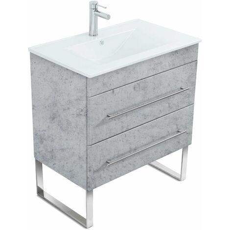 Mueble de baño con patas Casa Infinity 750 Gris hormigón