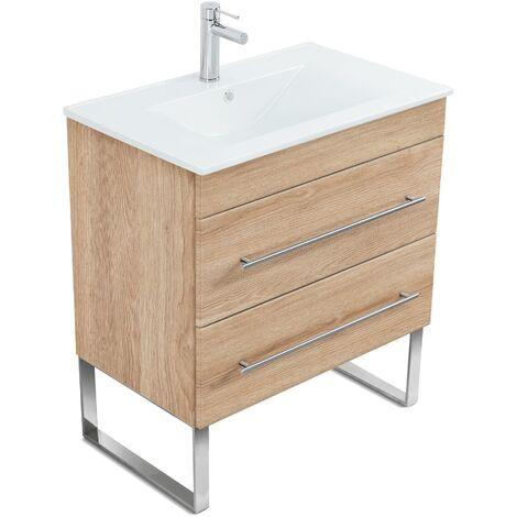 Mueble de baño con patas Casa Infinity 750 Roble claro