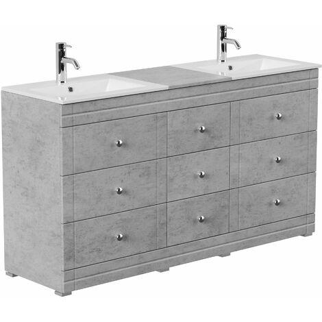 Mueble de baño con patas Cosmo clásico hormigón