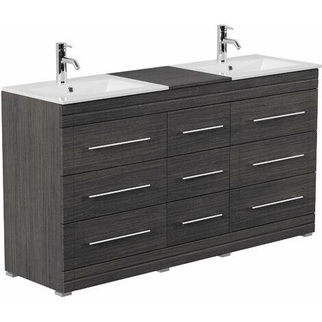 Mueble de baño con patas Cosmo Moderno Antracita vetado