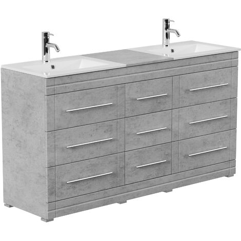 Mueble de baño con patas Cosmo Moderno hormigón