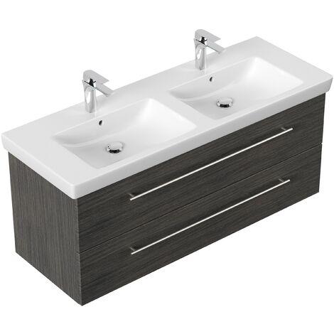 Mueble de baño con Villeroy & Boch Subway 2.0 Lavabo 130 cm Antracita vedato