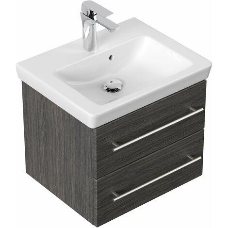 Mueble de baño con Villeroy & Boch Subway 2.0 lavabo 50cm Antracita vetado