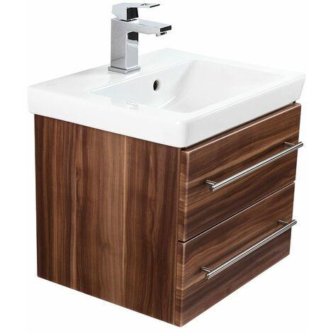 Mueble de baño con Villeroy & Boch Subway 2.0 lavabo 50cm Nuéz