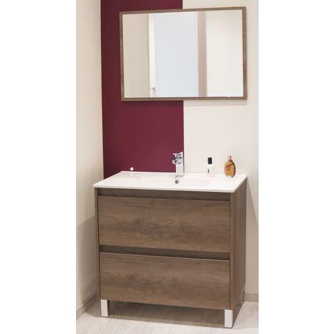 Mueble de bano DAHLIA 80 Dimensiones : 81x46,5x82 cm - Aqua +