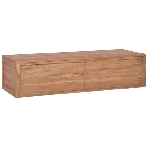 Mueble de baño de pared madera maciza de teca 120x45x30 cm