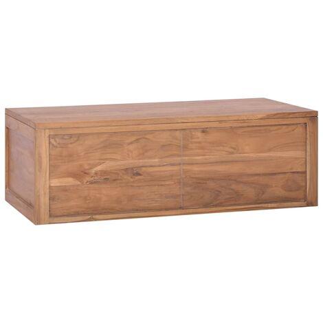Mueble de baño de pared madera maciza de teca 90x45x30 cm