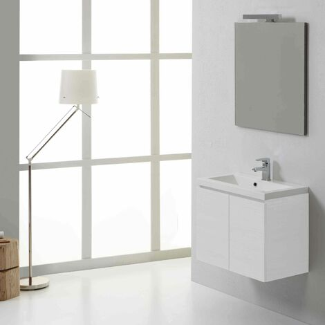 MUEBLE DE BAÑO DE PARED MANHATTAN 60 CM BLANCO BOSQUE