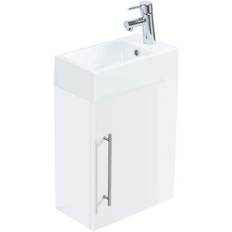Mueble de baño de servicio Aris Blanco brillante