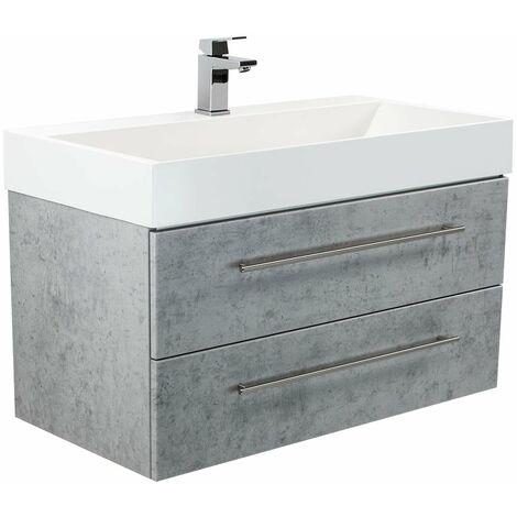 Mueble de baño Design 900 Gris hormigón