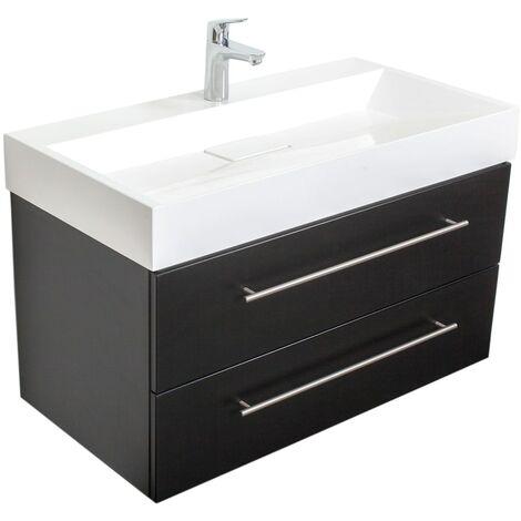 Mueble de baño Design 900 Negro satinado