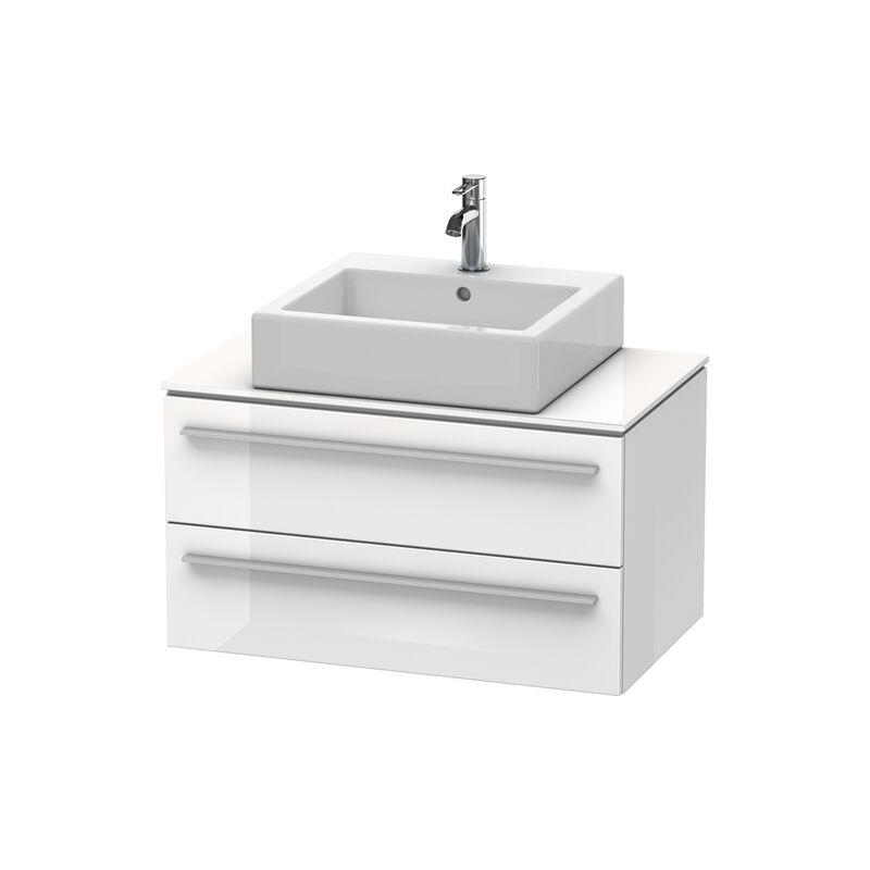 Mueble de baño X-Large para consola 6511, 2 cajones, 800 mm, Color frente/cuerpo: Decoración blanca de alto brillo - XL651102222 - Duravit