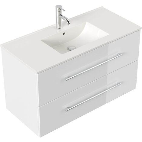 Mueble de baño Firenze 100 Blanco brillante