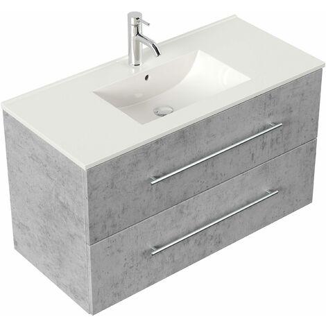Mueble de baño Firenze 100 Gris hormigón