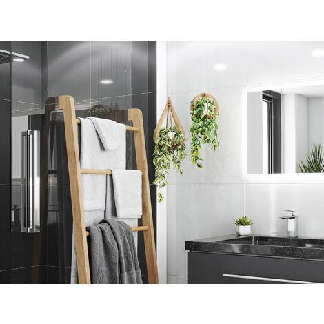 Mueble de baño granit Galaxy Black Damo 130cm 1 agujero Antracita y espejo