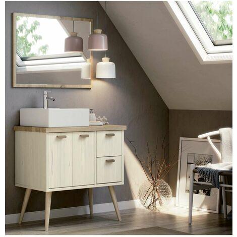 Mueble de baño Hydra 82 cm con lavabo y espejo.