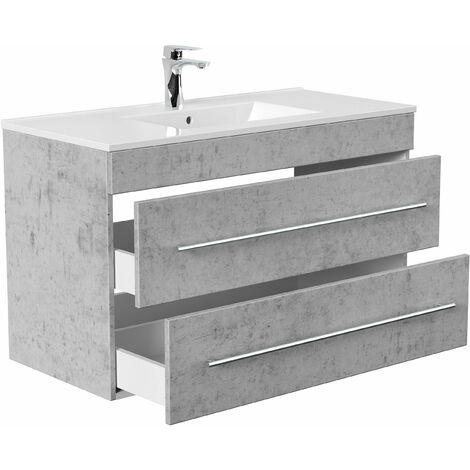 Mueble de baño Infinity 1000 Gris hormigón